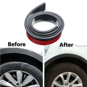 2 X Carbon Fiber Color 5.5cm/1.5M Widening Car Wheel Eyebrow Trim Protector Lips