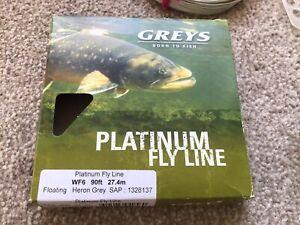Greys Platinum WF#6F Heron Grey Fly Line River Reservoir Trout Grayling Ex' VVGC
