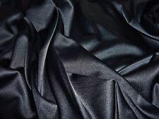 HEAVY STRETCH SATIN  -BLACK -DRESS FABRIC-FREE P&P-1.0 METRES