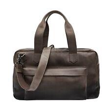 Prime Hide Cherokee Luxury Black Leather Holdall Travel Gym Bag NEW