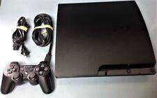 Sony PlayStation 3 Slim 320GB Charcoal Black Console CECH-3001B w/ACCS & Game