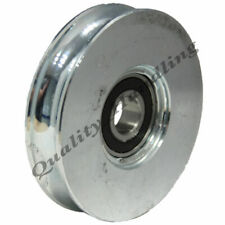 Sliding Gate Wheel Pulley Wheel 160mm Round Groove Steel Wheel R U Shape 600kgs