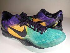 Nike Kobe 8 VIII System Easter Fiberglass Court Purple Black SZ 8 (555035-302)