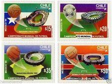 Chile 1986 #1174-77 Campeonato Mundial Futbol FIFA Soccer Mexico´86 MNH