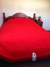 "CHENILLE SINGLE ""NEW"" RED VINTAGE COLLECTABLE BEDSPREAD. Caravan Movie Film Set."