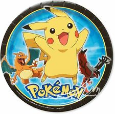 AMSCAN - POKEMON PARTY PLATES - PACK OF 8