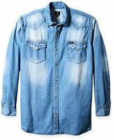 Lee Tops Mens Big Heritage Western Long Sleeve Denim Shirt- Pick SZ/Color.