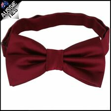 Burgundy Red Plain Men's Bowtie Mens Bow Tie