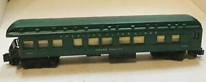 Vintage American Flyer Lines Grand Canyon #954 Passenger Train Car Green