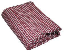 Indian Handmade Kantha Gudari King Size Kantha Quilt Vintage Bedspread Throw