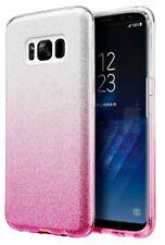 COVER Custodia Glitter GRADIENTE Morbida GEL Silicone per Samsung Galaxy S8 Rosa