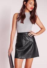 9708fe295e2 Missguided faux leather a line mini skirt black size 0 us