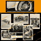 Copy 6 X WW2 German WEHRMACHT photos Soldiers Motorcycle MP 40 Ski Troopers
