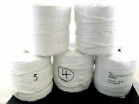 **100% Bleached White Cotton Cushion Piping Cord 6 Sizes - Great for Macrame