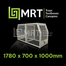 ALUMINIUM UTE DOG CAGE BOX - 4X4 HUNTING PIGGING - 1780* 700*1000mm - MRT25DH