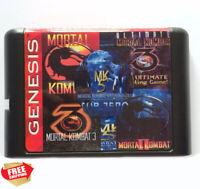 Sega Mortal Kombat 5 In 1 for 16 bit Sega MD Mega Drive/Genesis Game Consol