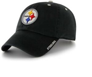 Pittsburgh Steelers 47 Clean Up Adjustable Black Hat With Bill Script Logo