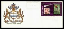 DR WHO 1987 GUYANA FDC HALLEYS COMET SPACE CACHET OVPT S/S IMPERF  f95037