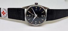 Raro Vintage Usado ZENITH piloto Dial Negro Reloj de Hombre Viento Manual