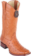 Los Altos Genuine HONEY Ostrich Square Toe Western Cowboy Boot D