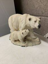 More details for stunning resin polar bear with cub  30cm long 18cm high