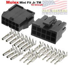 Molex 10-Pin Black Connector Pitch 4.20mm, w/18-24 AWG Pin Mini-Fit Jr ™
