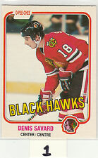 1981-82 O-Pee-Chee #63 Denis Savard RC rookie OPC Chicago Blackhawks