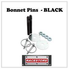 "BONNET PINS 1/2"" BLACK ANODIZED ALUMINIUM, CIRCUIT RACE RALLY SPEEDWAY TRACK CAR"