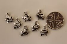 Small Tibetan Silver Piranha Fish Charms Finding 9x10mm ( qty 320 to clear )