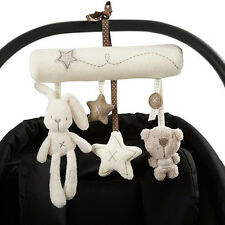 Newborn Baby Pram Bed Bells Soft Hanging Toys Animal Handbells Rattles Hot Sale
