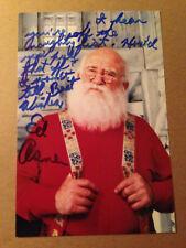 "Ed EDWARD Asner SIGNED 4x6 photo DISNEY ""UP"" CARL FREDRICKSEN / ELF MOVIE #2"