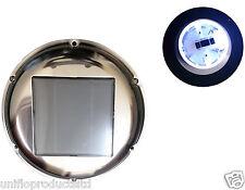 STAINLESS STEEL SOLAR FAN LED WHITE LIGHT HOME,MARINE,BOAT,MOTORHOME & CARAVAN