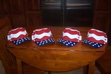 Cap Hat Qty4 Baseball Adult Men Women America (Voters) Red,White,Blue Flag USA