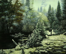 """20x24""""Hand Painted Oil Flat.Landscape,Frost, Impressionist Painting,High Quality"""