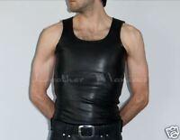 Lederhemd Leder-Hemd Muskelshirt Tank Top Shirt aus Leder