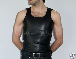 Leather Shirt Leder-Hemd Muscle Shirt Tank Top Shirt from Leather
