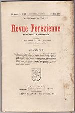 Revue forézienne août 1906 Forez Puy-de-Dôme Loire