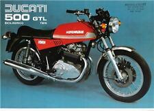 1976 Ducati 500GTL original color factory brochure -red