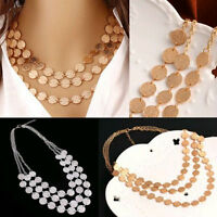 Choker Charm Fashion Jewelry Chain Pendant Chunky Statement Bib Necklace