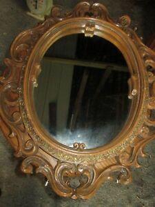 Vintage CARVED Wall Mirror Plaster Frame