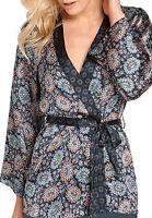 Ladies Silky Wrap Kimono Kaftan Top with Belt in UK Size 6 - 24