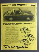 1966 / 1967 Porsche 911 Targa Sheet, Brochure, Prospekt English RARE!! Awesome