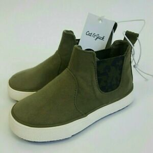 Cat & Jack Toddlers Boys Army Green Faux Suede Casual Boots 5, 6 ,7 ,10, 11