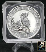 1997 2 oz Australian Silver Kookaburra Perth Mint Original Square Capsule BU