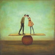 Finding Equilibrium Duy Huynh Figurative Fantasy Romance Print Poster 32x32