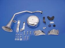 6 Volt Trumpet Style Horn Kit Chrome For Harley-Davidson 1949-1984