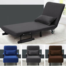 Upholstered Recliner Folding Single Sofa Bed Armchair Chair Beds Couch Sleeper
