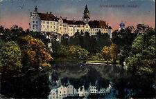 Sigmaringen Postkarte 1919 Schloss Partie Castle Postcard alte color AK