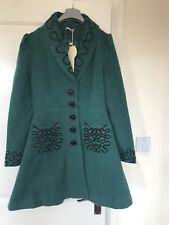 100% polyester Rama green long coat