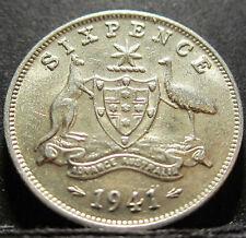 1941 Australia 6d Sixpence #RB641 =HIGH GRADE=